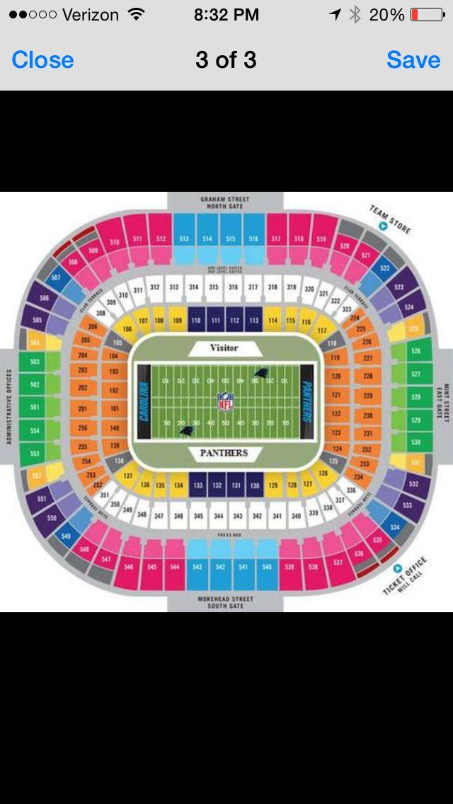 Seating Chart Carolina Panthers Carolina Panthers