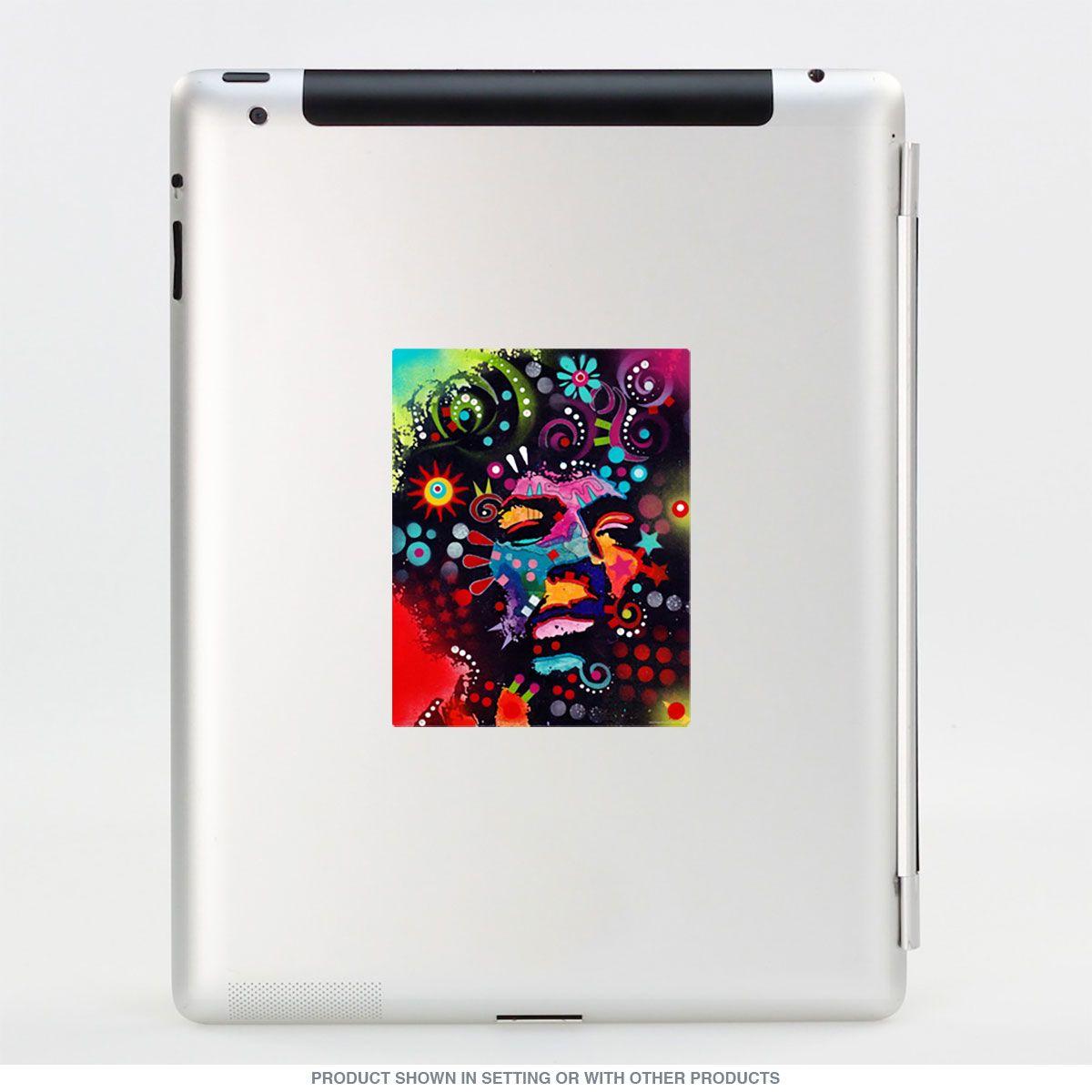 Jimi Hendrix Dean Russo Pop Art Vinyl Sticker Vinyl Stickers Laptop Vinyl Sticker Graffiti Style Art [ 1200 x 1200 Pixel ]