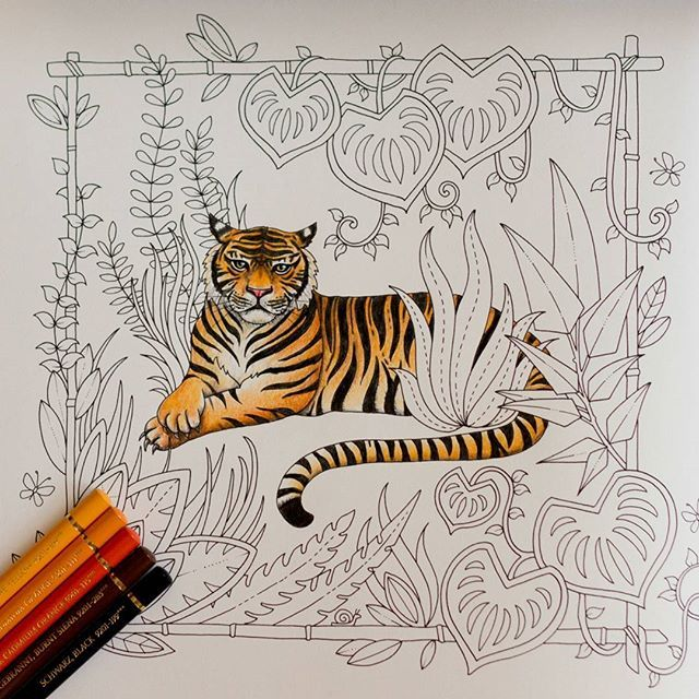 The Tiger Is Done Magicaljungle Johannabasford Coloring