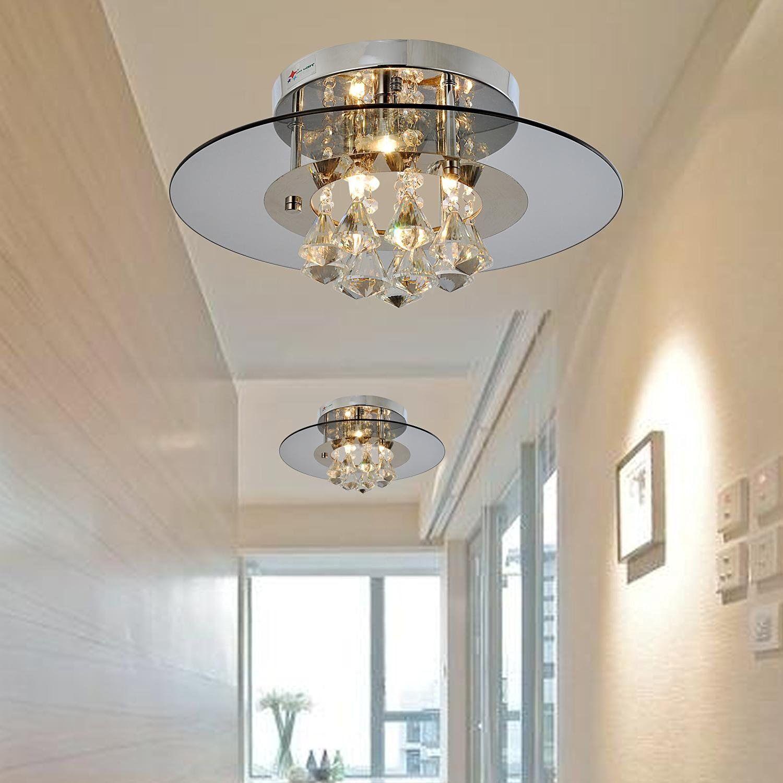 Oofay Light Simple And Elegant Crystal Light 4 Head Crystal Ceiling Light For Living Room Modern B Crystal Ceiling Light Ceiling Lights Living Room Lighting