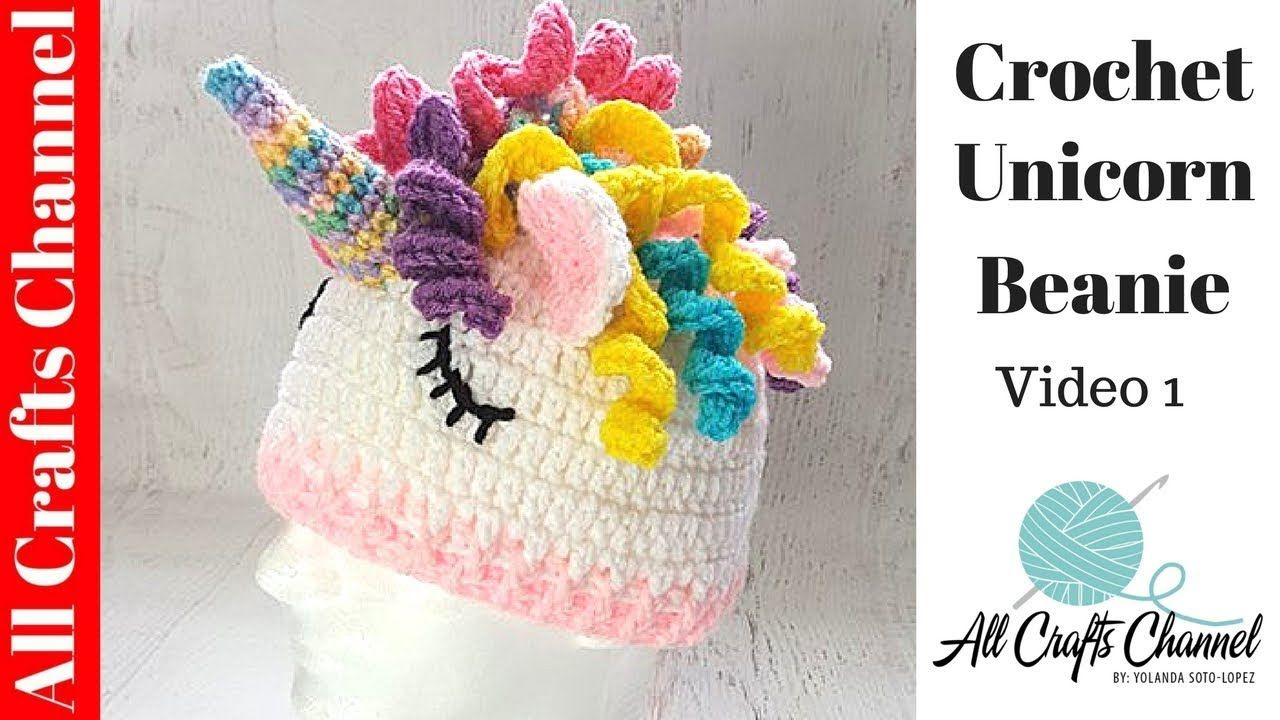 How to crochet unicorn hat video one easy tutorial youtube how to crochet unicorn hat video one easy tutorial youtube baditri Image collections