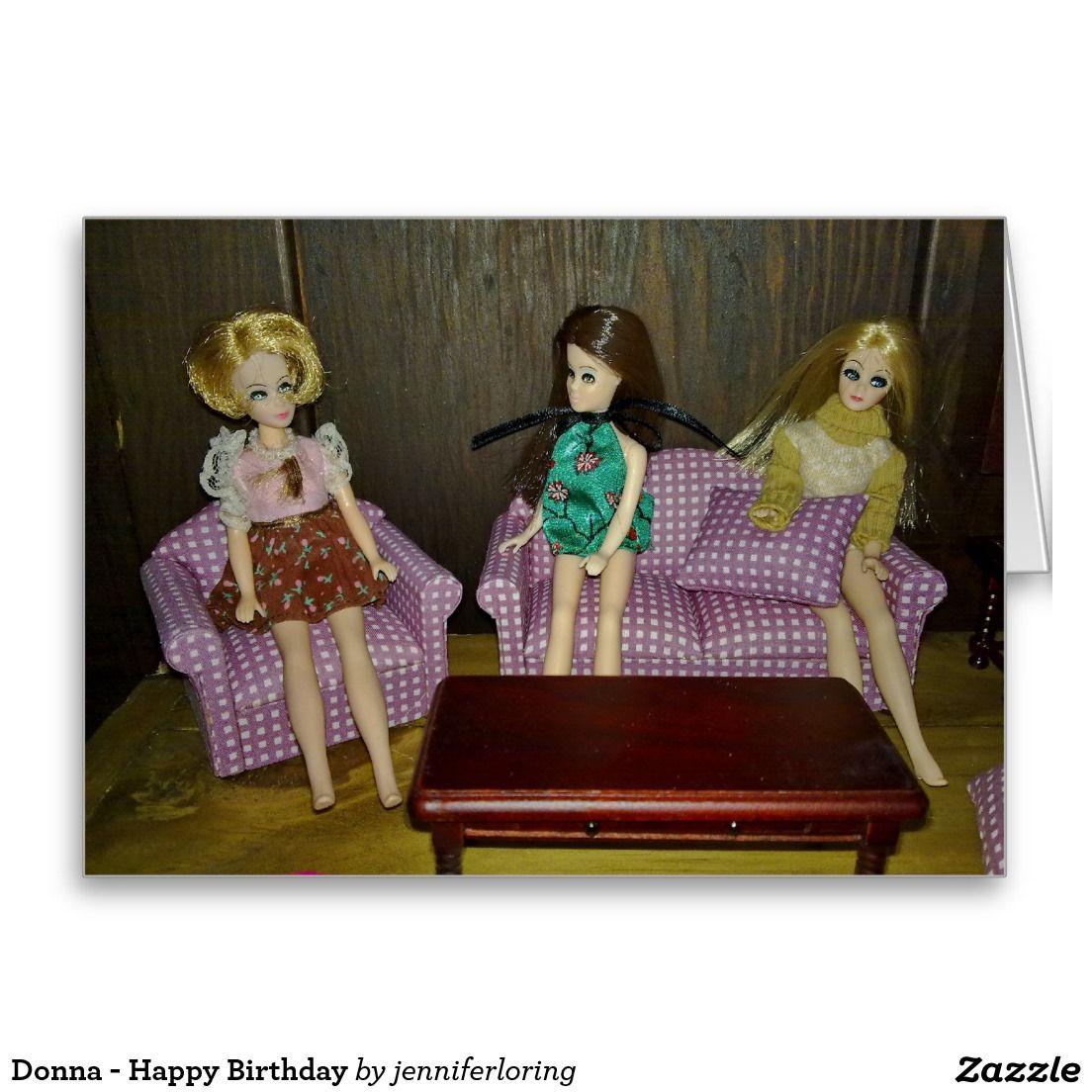 Donna - Happy Birthday Greeting Card
