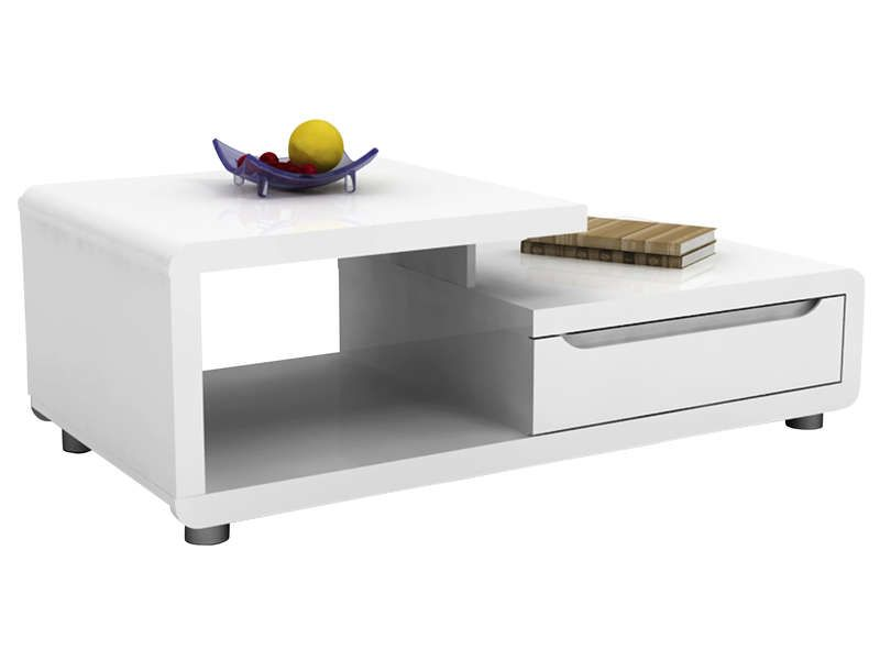 Table basse BEL AIR coloris blanc - Vente de Table basse - Conforama - petit meubles de rangement conforama