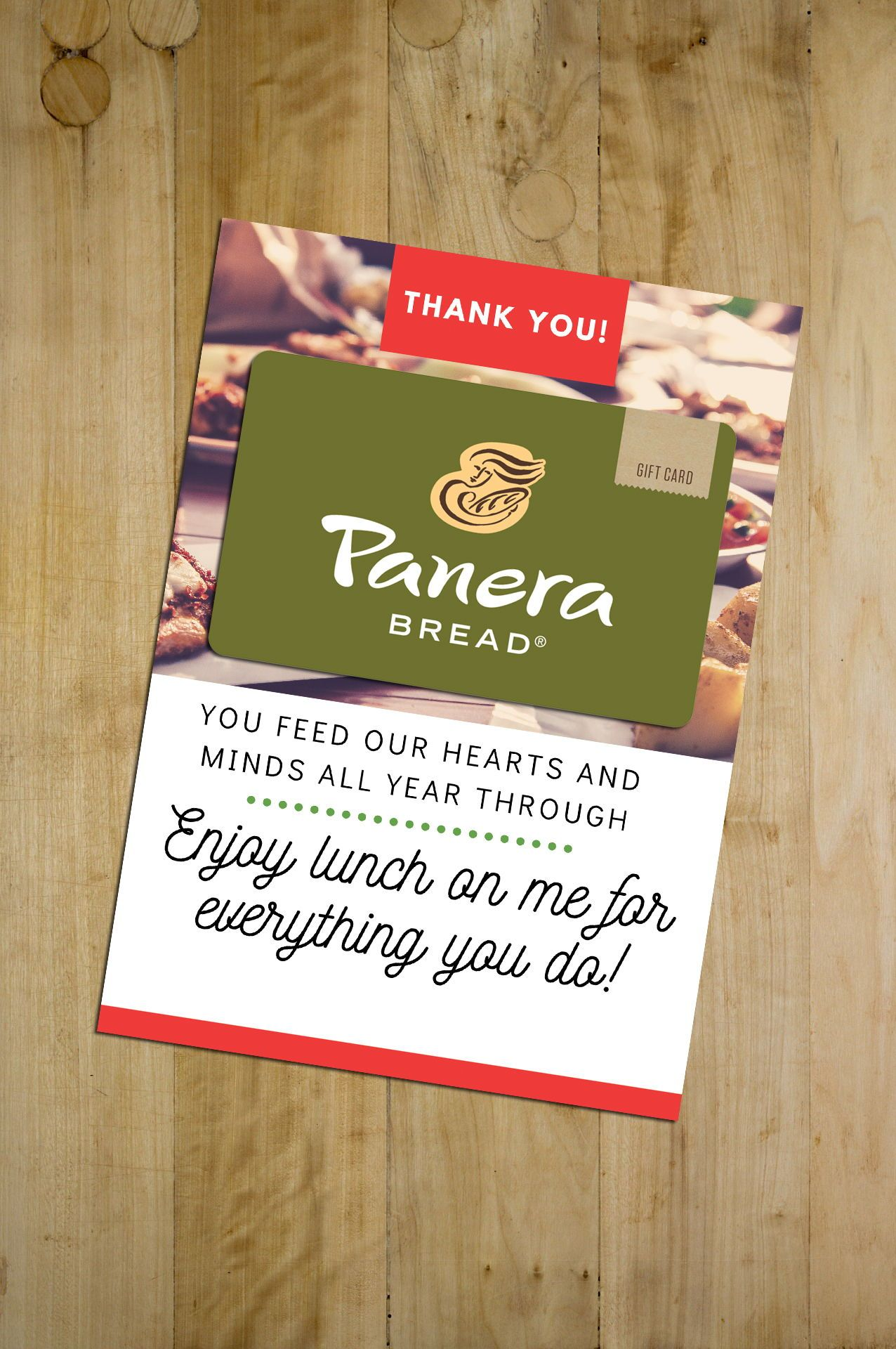 picture relating to Printable Restaurant Gift Cards named Trainer Appreciation Reward - Printable Cafe Reward Card
