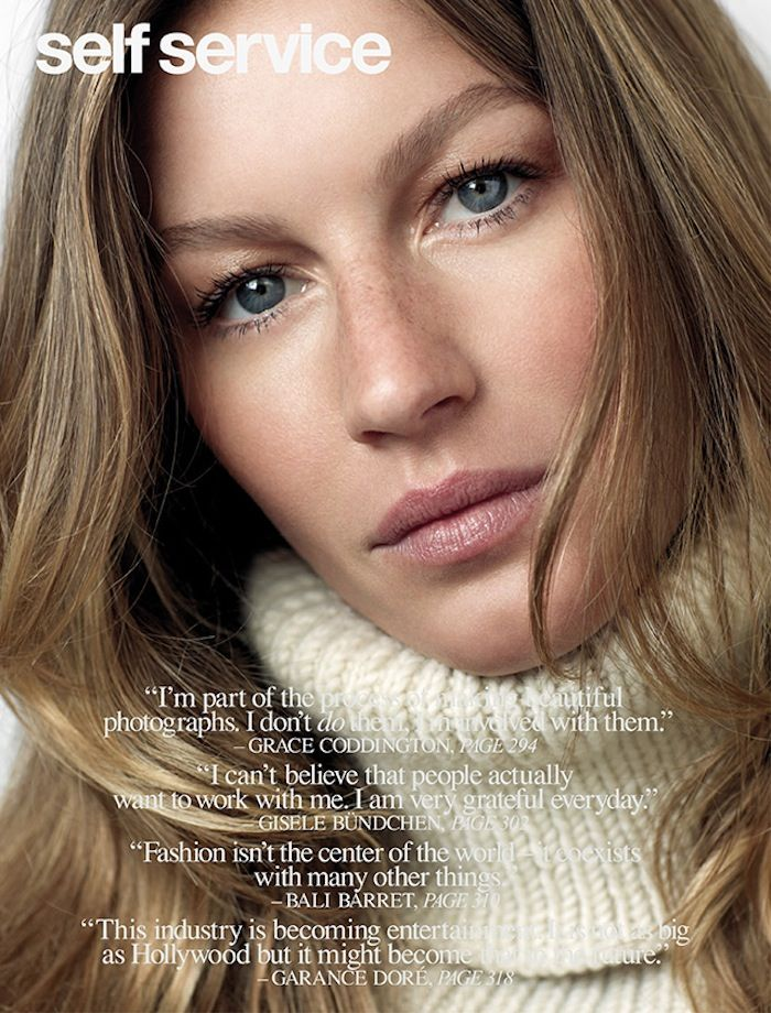 Gisele Bündchen by Roe Ethridge for Self Service No.39 FW 13.14