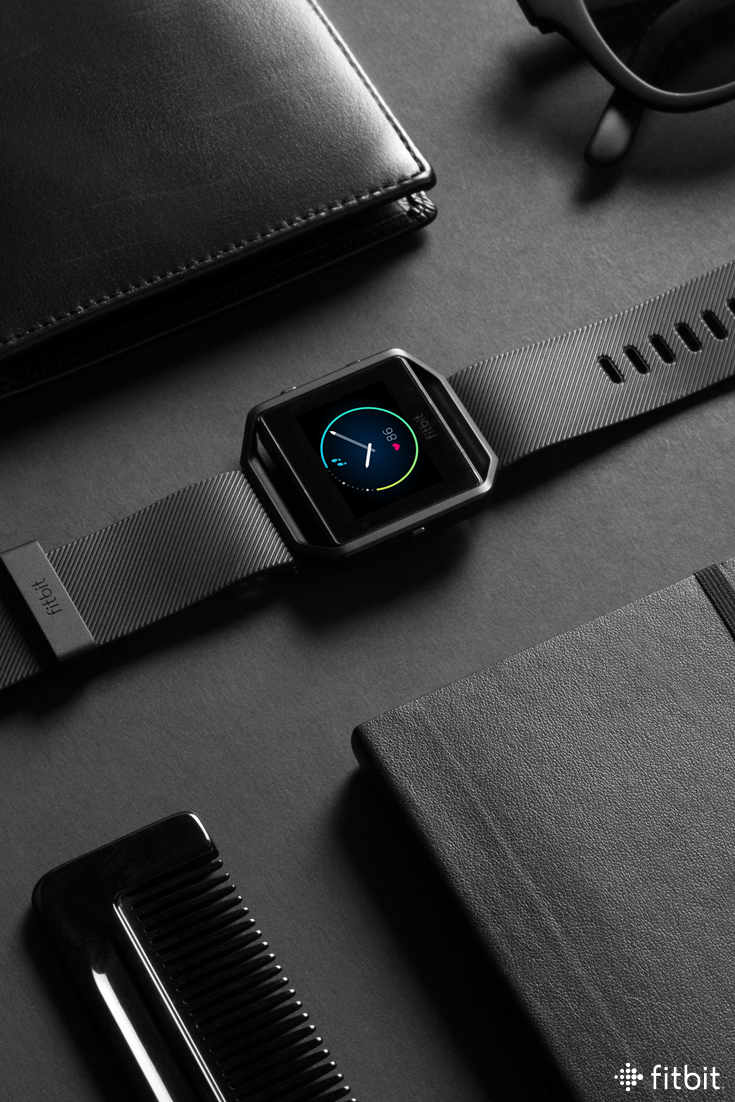 Meet gunmetal—the newest shade of Fitbit Blaze. This matte design is  dramatic,