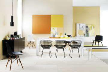 Sisustus - ruokailutila - olohuone - lämminsävyinen ja hienostuneen moderni