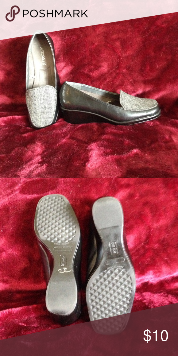 Aerosoles grey tweed loafers Nice comfortable loafers AEROSOLES Shoes Flats & Loafers