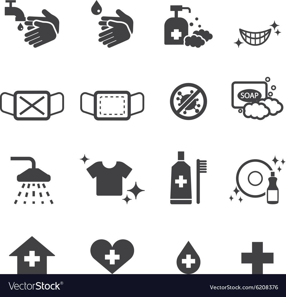 Hygiene Icons Set Vector Image On ในป 2020 โลโก