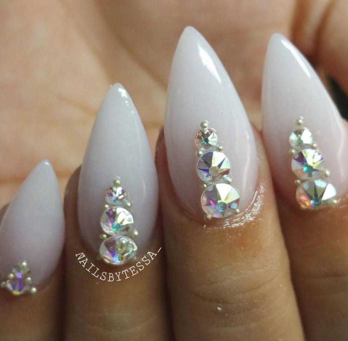Pin by Schnee Orosco on Nails | Pinterest | Bling nail art, Bling ...