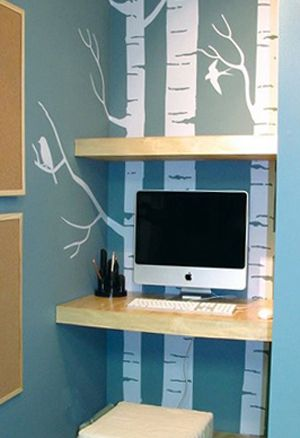 cr er un bureau atelier dans un petit espace bureau. Black Bedroom Furniture Sets. Home Design Ideas