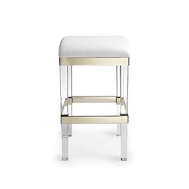 Fulham Acrylic Backless Bar Stool Kitchen Dining