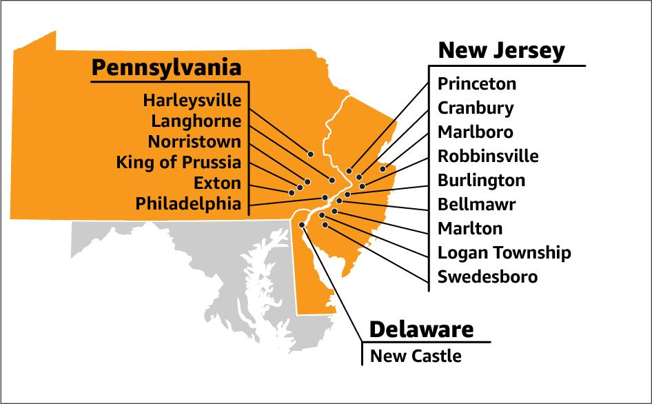 Find an amazon warehouse job in the philadelphia area