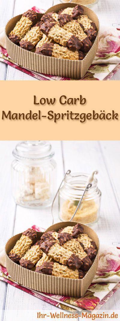 Low Carb Mandel-Spritzgebäck - einfaches Plätzchen-Rezept für Weihnachtskekse