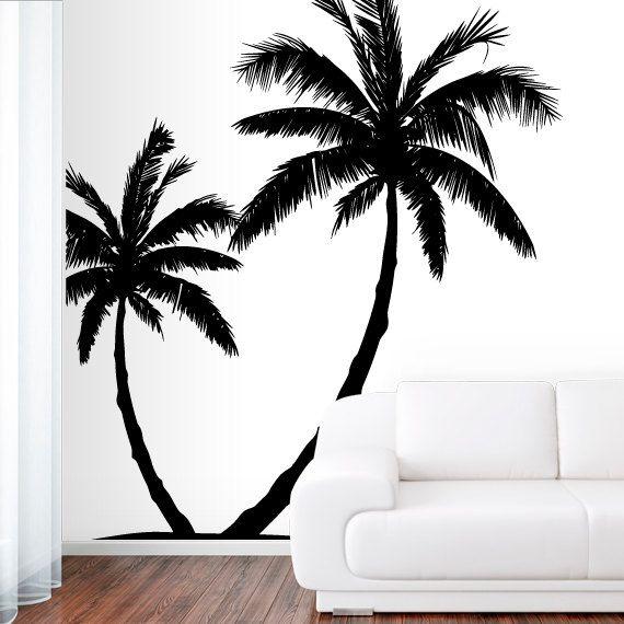 Wall Decal Vinyl Sticker Decals Art Decor Design Couple Palm