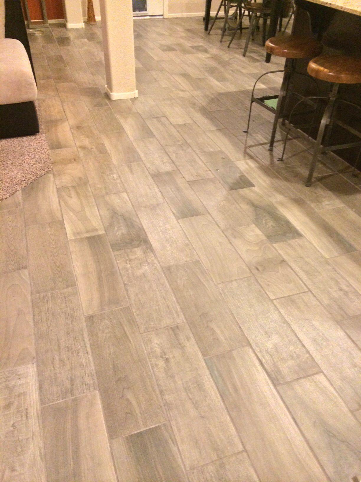 Cliffs Edge Emblem Gray Wood tile, Flooring, Grey flooring
