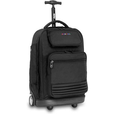 J World Parkway 20 1 2 Inch Rolling Laptop Backpack Black
