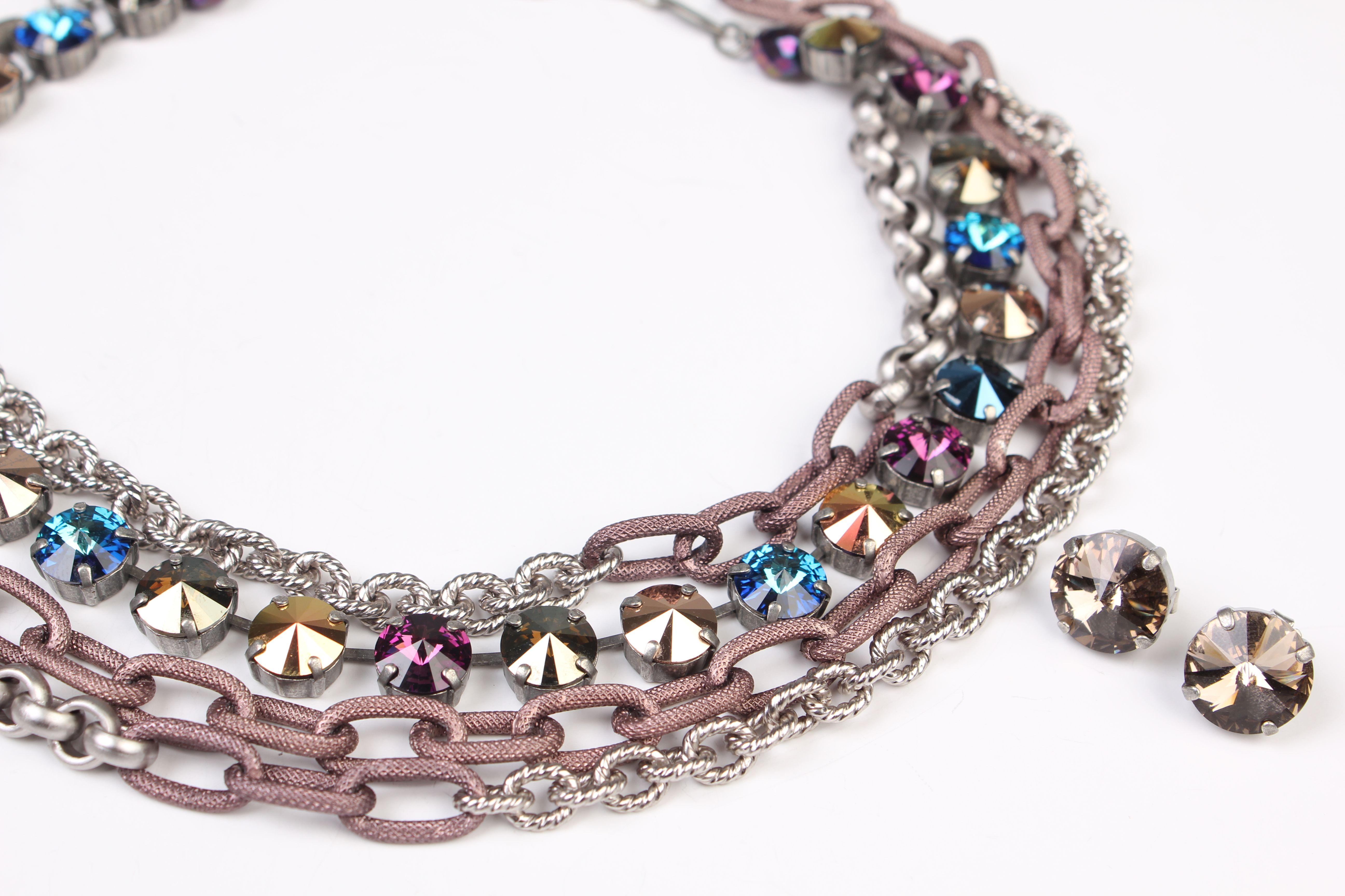 Sabika look necklace - Global Stage Manhattan Choker Paired With Sahara Dusk 3 Row Necklace And Sahara Dusk Sabika