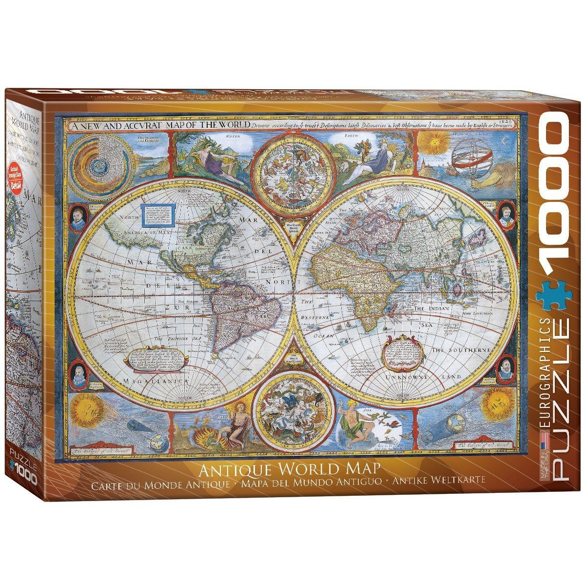 Antique world map 1000 piece jigsaw puzzle item 6000 2006 antique world map 1000 piece jigsaw puzzle item 6000 2006 gumiabroncs Images