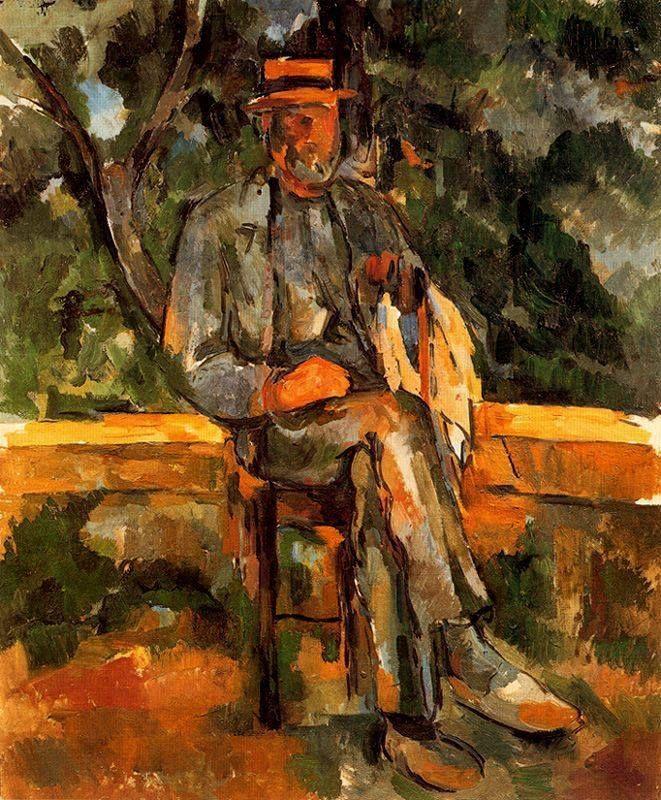 Paul Cézanne, Retrato de un campesino, Óleo sobre lienzo. 65 x 54 cm. Museo Thyssen-Bornemisza