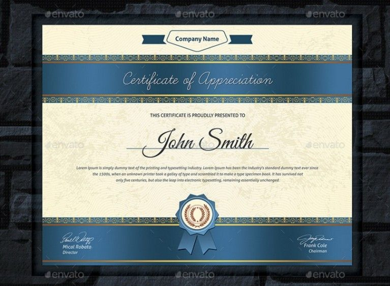 20 professional certificate template psd indesign and eps format
