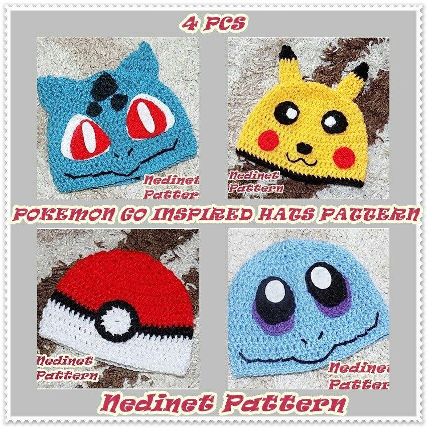 Crochet Pattern Pokemon Hat Pattern Pokemon Inspired Pikachu
