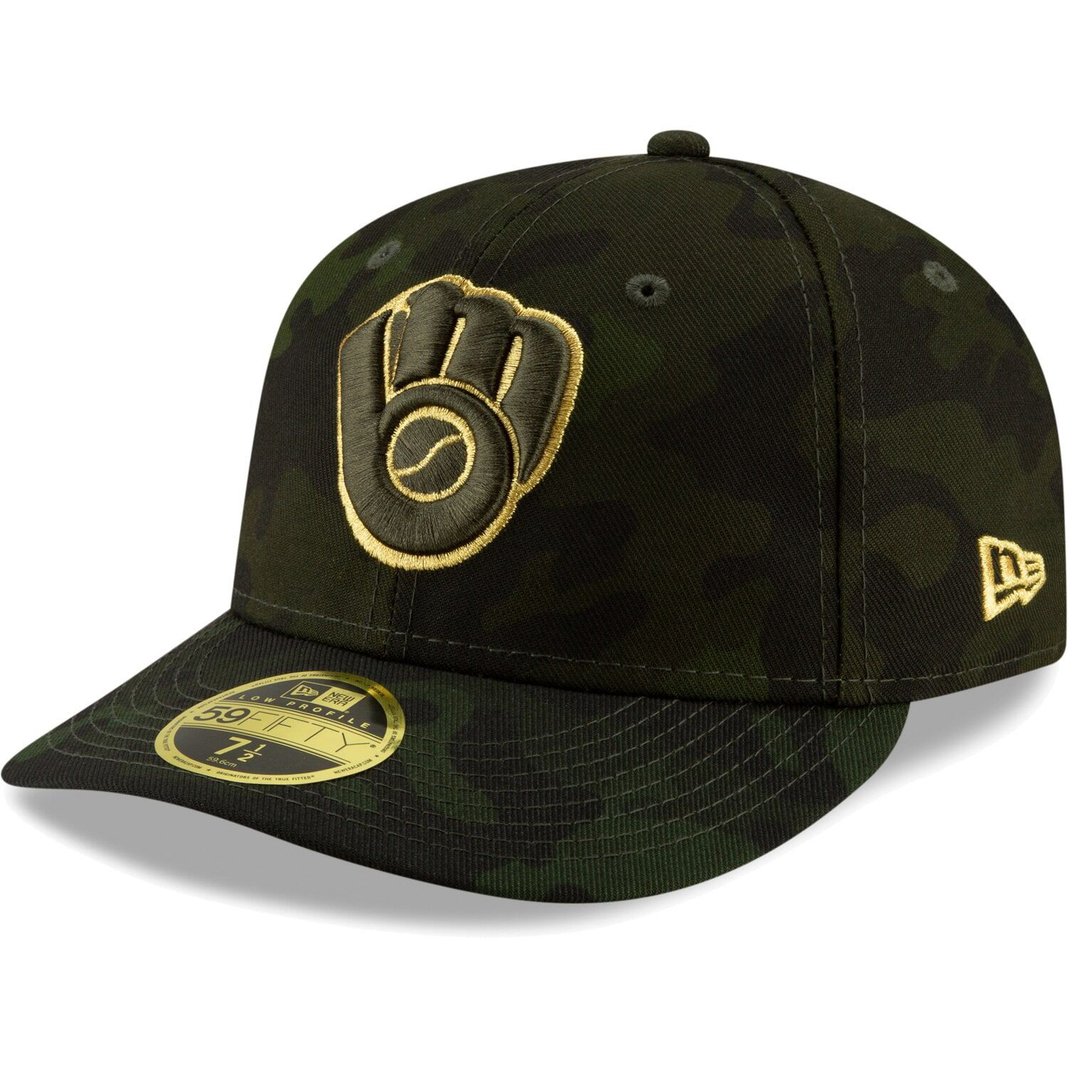 Milwaukee Brewers New Era 2019 MLB Armed Forces Day On-Field Low Profile 59FIFTY Fitted Hat - Camo