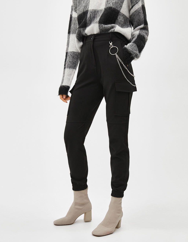 c958428f365 Pantalón cargo con cadena en 2019 | Hi, I want this | Pantalones ...