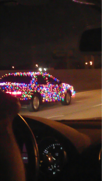 Christmas Light Car..I thought this was kinda funny (: - Christmas Light Car..I Thought This Was Kinda Funny (: Laughter