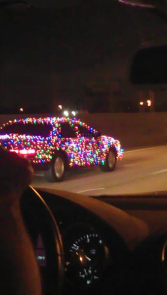 Christmas Light Car I Thought This Was Kinda Funny Christmas Humor Christmas Spirit Holiday Spirit