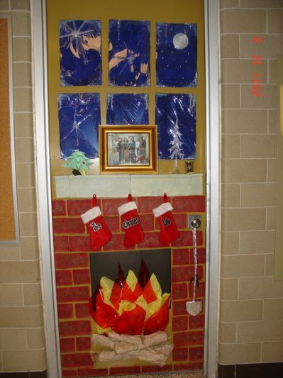 best 10 christmas office door decorating