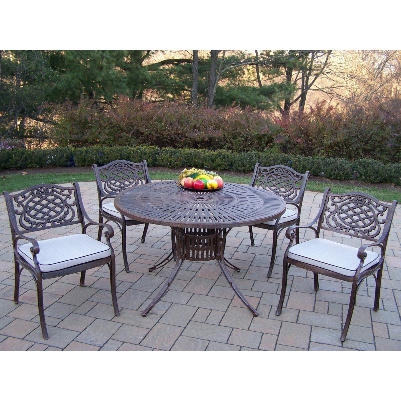 f355d78f5ea Outdoor Oakland Living Sunray 48 in. Mississippi Patio Dining Set - Seats 4