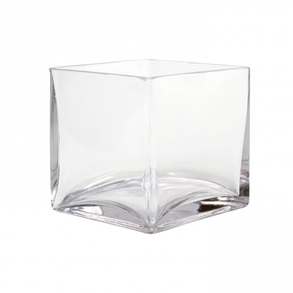 5 Square Cube Glass Vase, 6-Pack [404344] : Wholesale Wedding ...