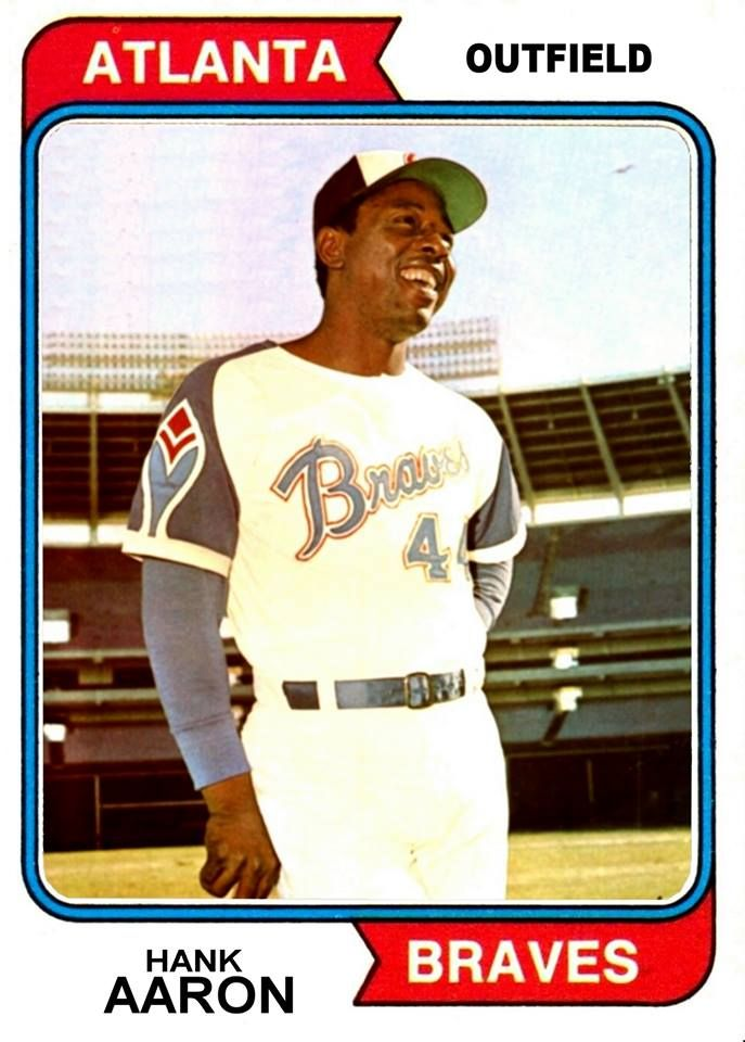 1974 Topps Hank Aaron Cards That Never Were Braves