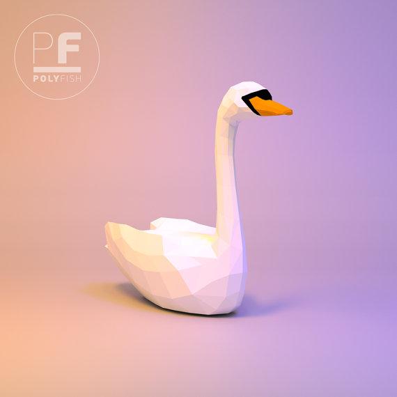 Swan Paper Swan Origami Swan 3d Swan White Swan Papercraft