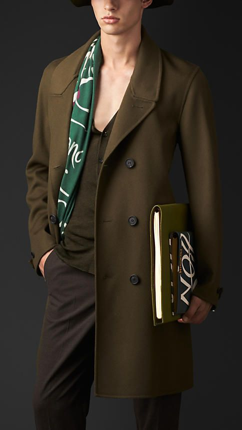 Burberry Prorsum Double Wool Cashmere Belted Coat