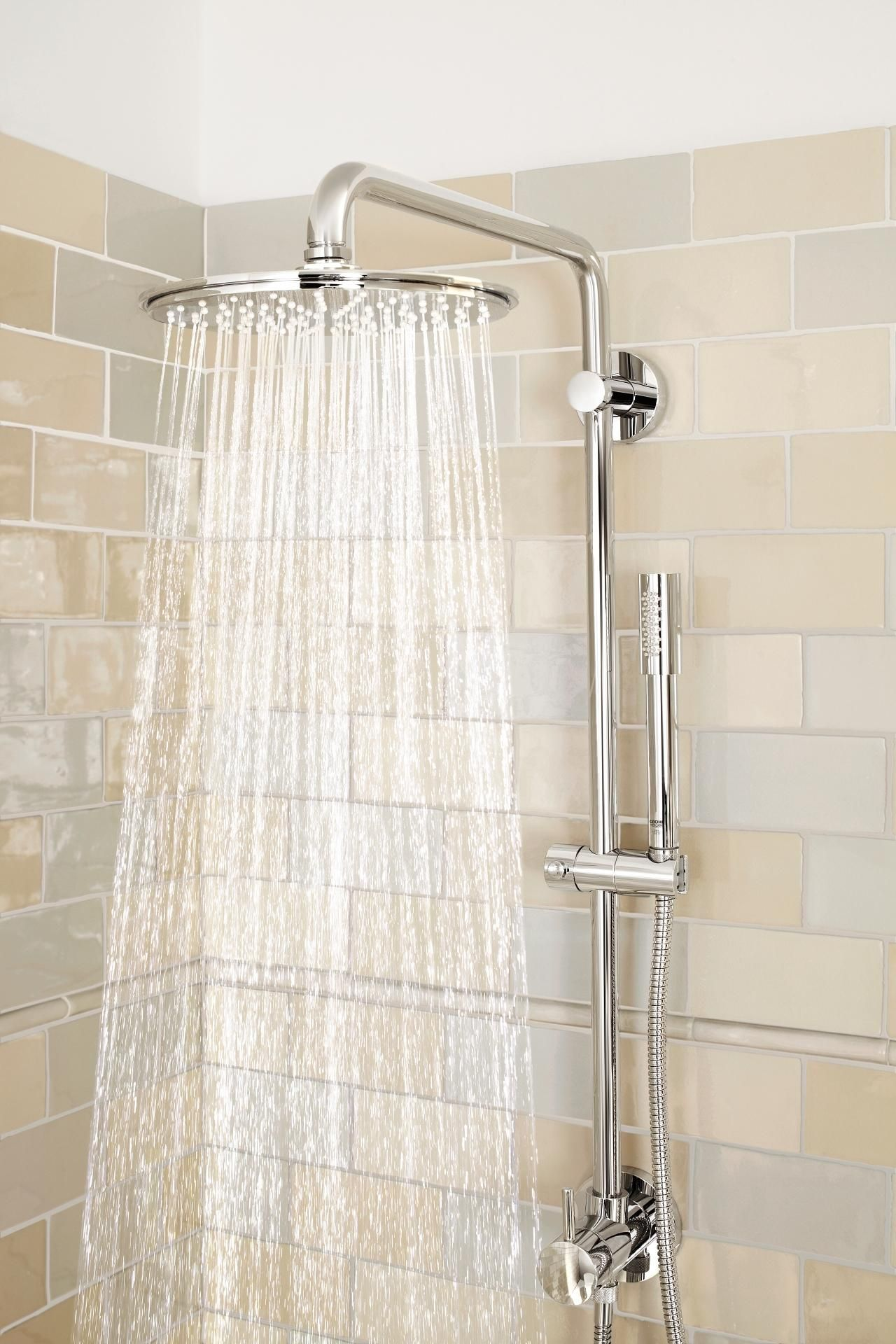 Retro Fit Shower System Shower Systems Grohe Shower Systems Shower Shower Remodel
