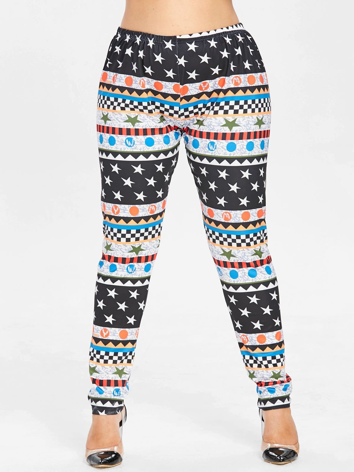 Plus Size Christmas Leggings.Womens Plus Size Graphic Christmas Leggings Multi