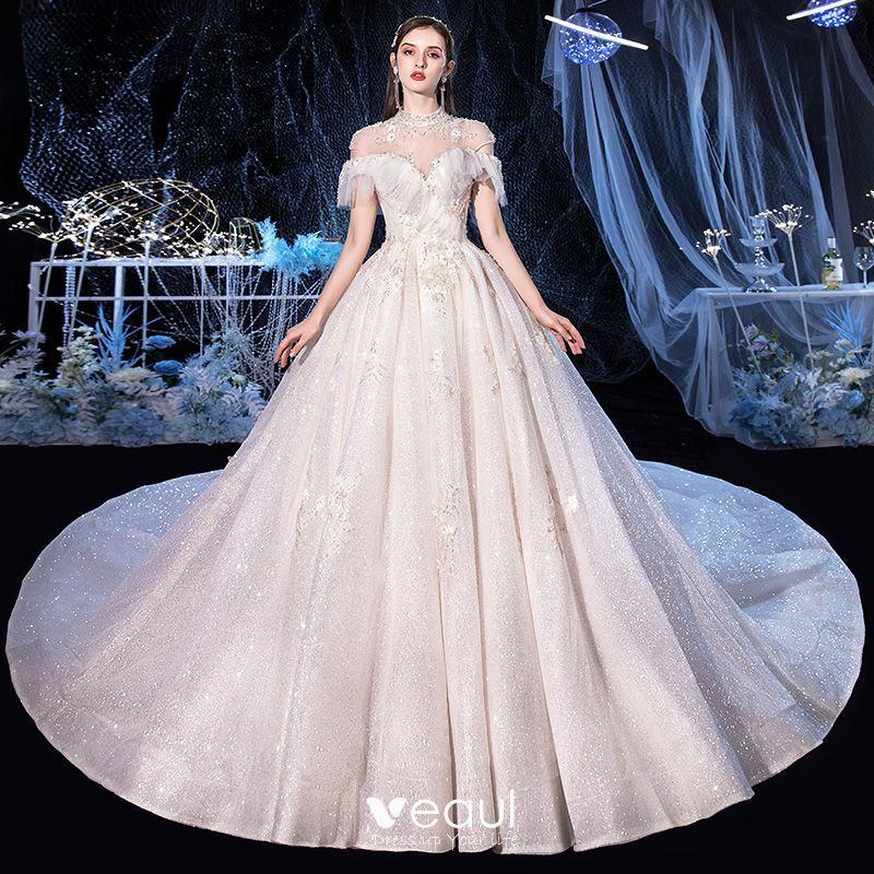 Vintage / Retro Ivory Bridal Wedding Dresses 2020 Ball