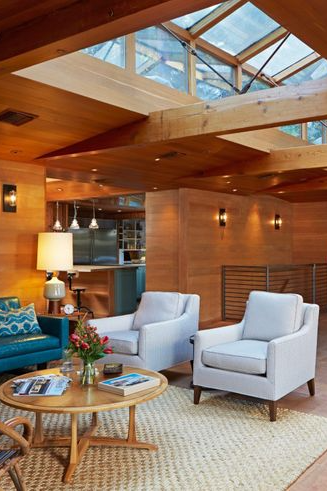 transform wood paneling in your living room into a
