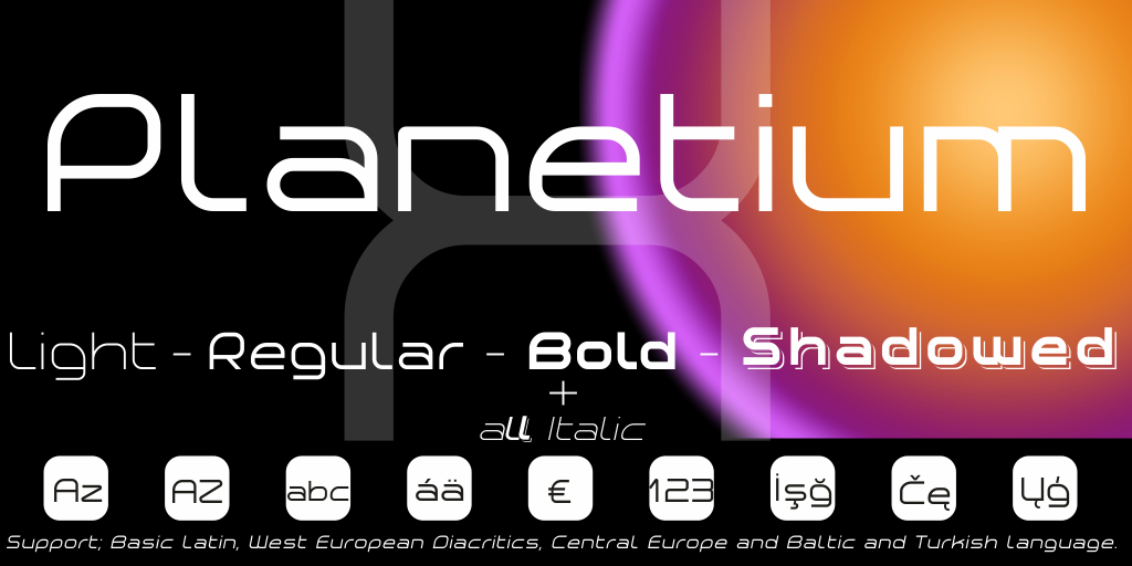 New free font 'Planetium-X' by StudioTypo · Free for personal use · #freefont #font