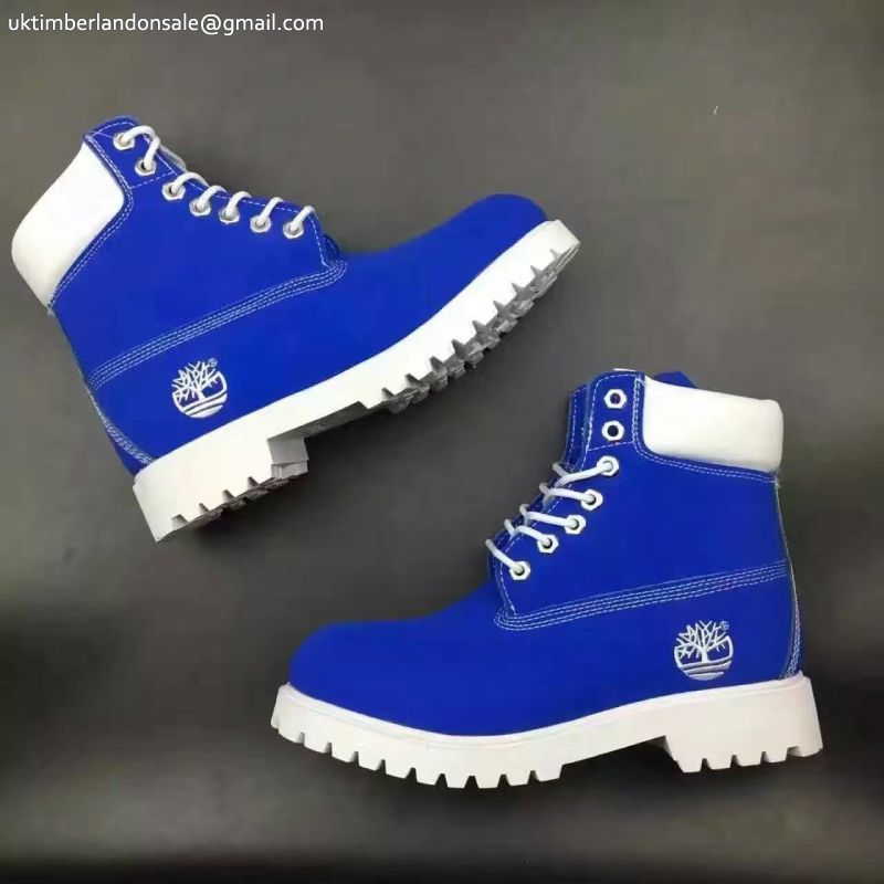 Classic Timberland Royal Blue White Anti fagitue 6 Inch