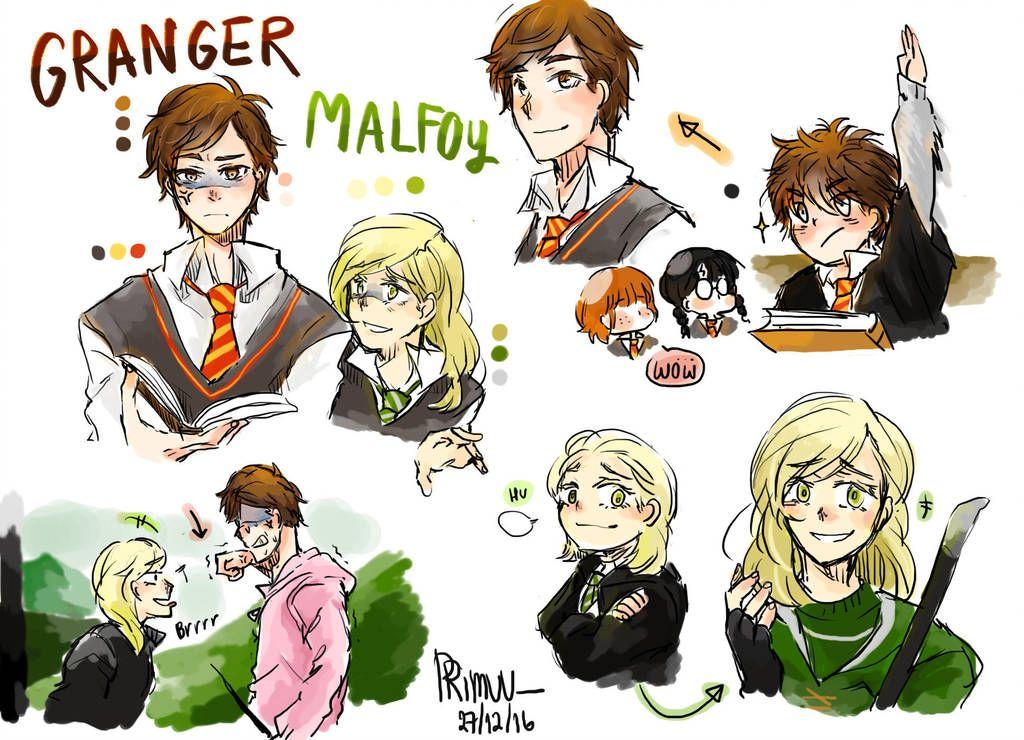 Hp Dramione Gender Bender By Https Www Deviantart Com Primuu On Deviantart Harry Potter Sketch Fem Harry Potter Harry Potter Fan Art