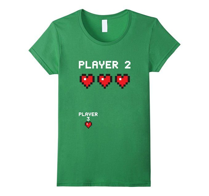 Amazon Player 3 Shirt Video Game Pregnancy Announcement – Baby Announcement Videos