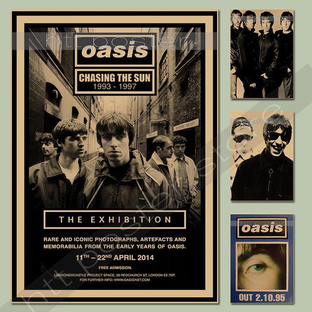Vintage affiches OASIS rock bande chanteur affiche comique kraft - Poser Papier A Peindre