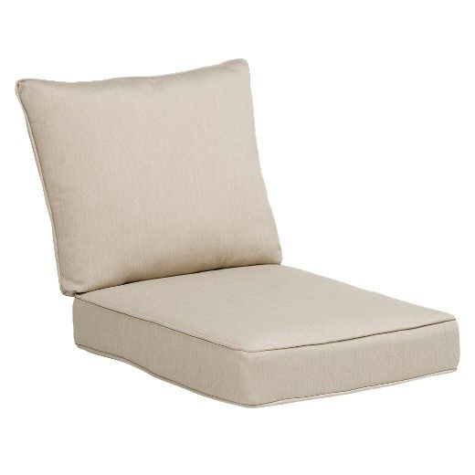 Rolston 2pc Outdoor Replacement Chair Cushion Set Beige Haven Way In 2020 Replacement Chair Cushions Outdoor Seat Deep Seating