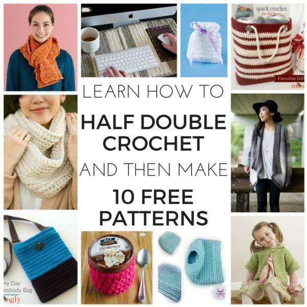 Learn Half Double Crochet with Moogly | Tejido