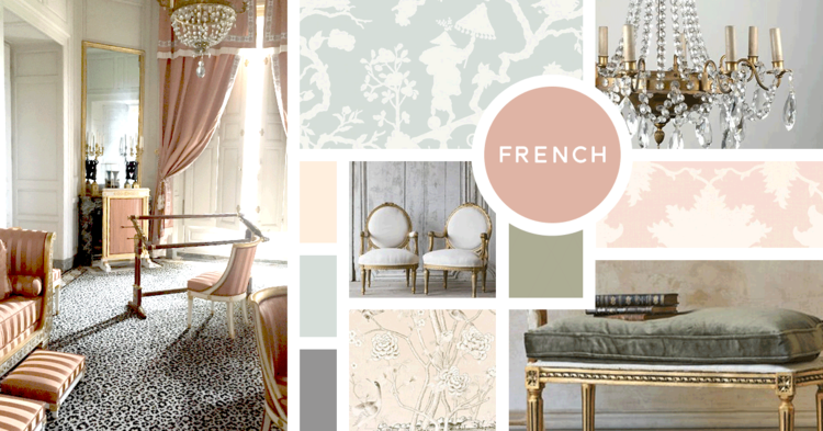 French Interior Design Style Nbsp Sources From Top Left Paper