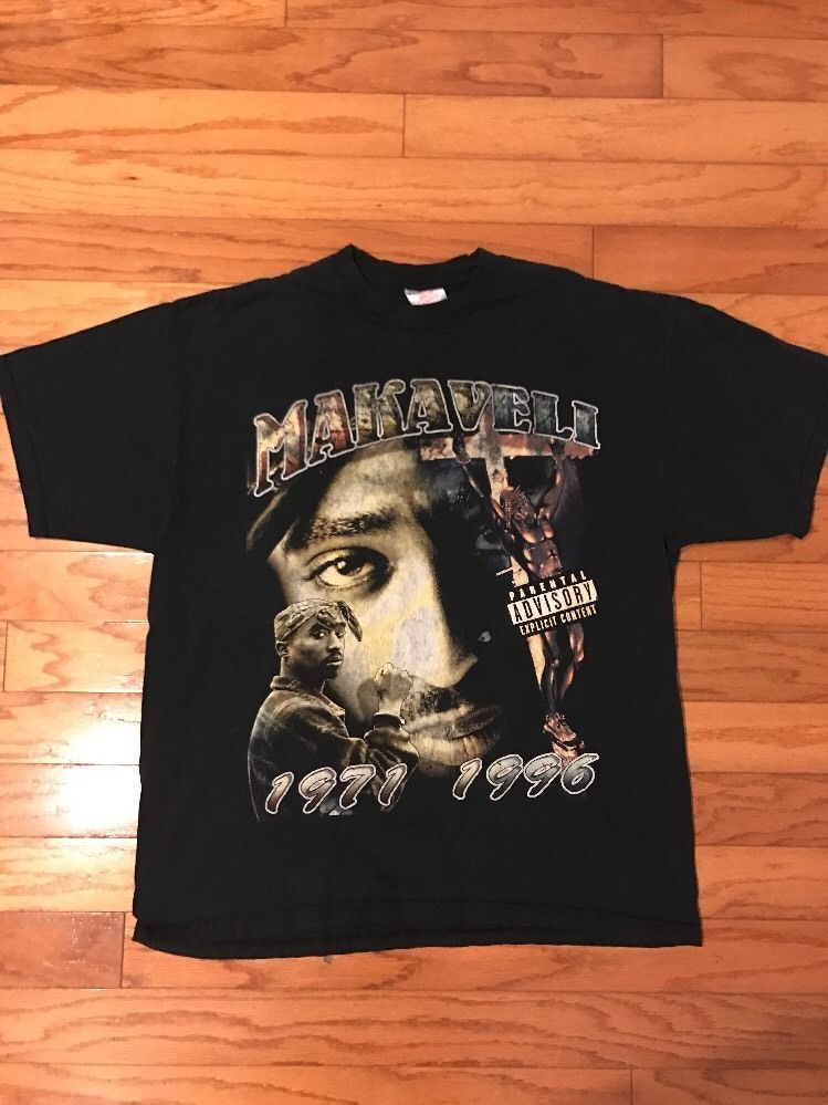 ad89aa023fa9 Vintage 90s Tupac Shakur Makaveli 2pac Tour Music Tee Black T-Shirt |  Clothes, Shoes & Accessories, Men's Clothing, T-Shirts | eBay!