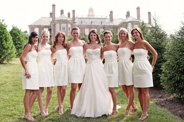 Image result for all white bridal party